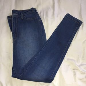 Classic high waist medium denim skinny jeans